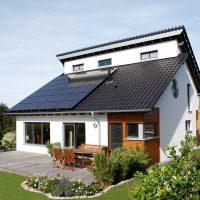 Photovoltaik Anlage auf Einfamilienhaus