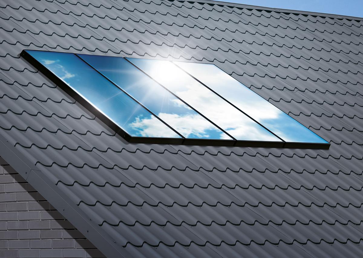 Solarpanel auf Hausdach